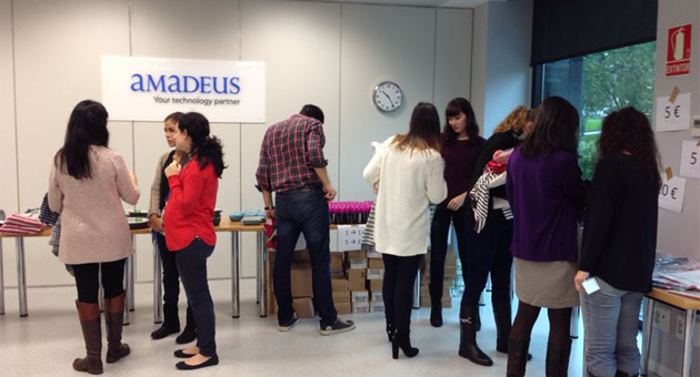 1,836€ raised thanks to a charity market at Amadeus
